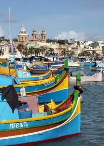 2016-11-20 (vista de les barques de Marsaxlokk)